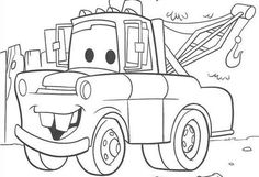 Cars Lightning Mcqueen Printable Colouring Sheet Ecoloringpage