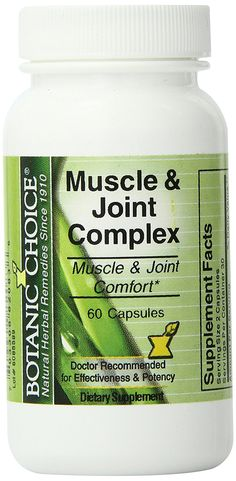 Botanic Choice Muscle and Joint Complex Capsules, 60-Count Bottle * Check out this great product. (This is an Amazon Affiliate link and I receive a commission for the sales)