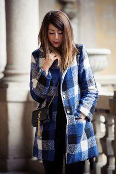 #fashion #fashionista @Nicoletta Scent of Obsession CAPPOTTO A QUADRI BLU & MINI SAINT LAURENT MONOGRAMME