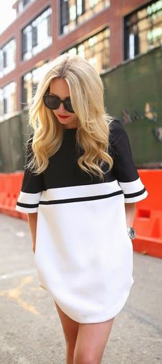 #street #style minimal oversized shirt dress @wachabuy