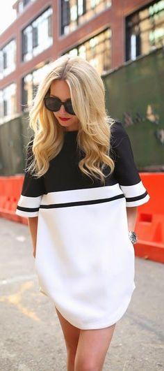 #street #style minimal oversized shirt dress @wachabuy