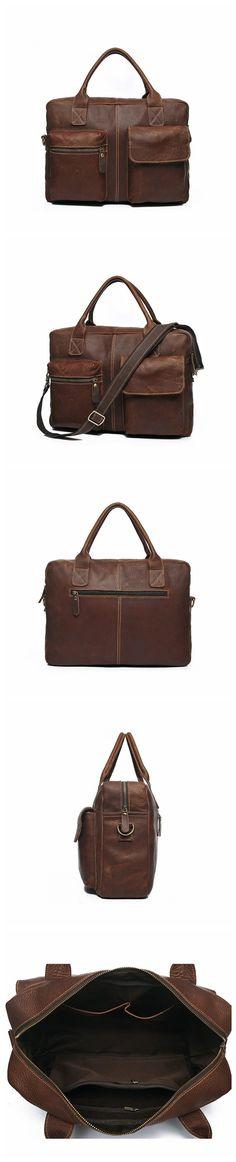 ROCKCOW Italian Genuine Leather Men bag Cow Leather Briefcase Men's Messenger Bags Men's Travel Bags Man Crossbody Shoulder Handbag YD0B331