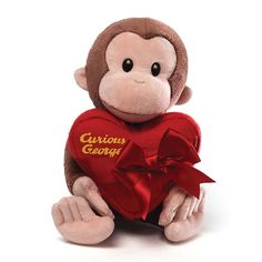 Curious George Valentines Day Plush