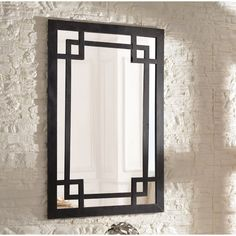 Wildon Home ® Jacob Wall Mirror Foyer Mirror, Metal Mirror, Wall Mirror, Diy Furniture Projects, Metal Furniture, Furniture Design, Elegant Home Decor, Elegant Homes, Glass Dining Room Table