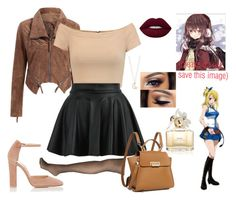 """""""Running Into an Old Friend~ Fairy Tail"""" by gravityfallsgirl33 ❤ liked on Polyvore featuring Gianvito Rossi, Alice + Olivia, Avenue, Full Tilt, Marc Jacobs and ZAC Zac Posen"""