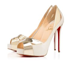 CHRISTIAN LOUBOUTIN Academa Specchio/Patent, Light Gold, Specchio/Laminato, Women Shoes, Louboutin.. #christianlouboutin #shoes #
