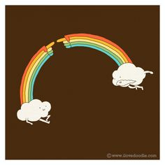 OMG yes! I want this on a shirt! The Creation of Rainbow by ILoveDoodle, via Flickr