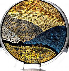 Stained Glass Mosaic, Mixed Media Art, Abstract, 12 Inches