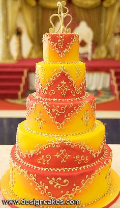 Indian cake - different colors for me, but beautiful!