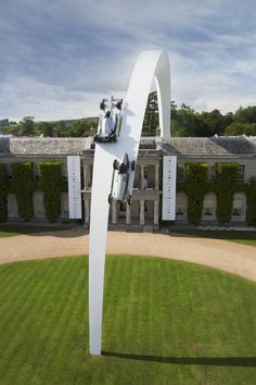 Artist Gerry Judah has unveiled his 90 metres long steel sculpture for Mercedes-Benz at the Goodwood Festival of Speed 2014.