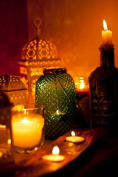 Moroccan Night lanterns and candles