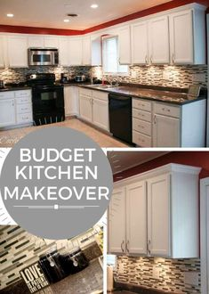 This is a must-read if you want to make major changes in a kitchen on a budget! Budget Kitchen Makeover #kitchenmakeovers
