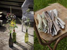 #napkins #vases #floral #grill