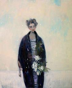 "Kristin Vestgard, ""Fields"", oil 60 x 50cm, £2650. Has now SOLD"