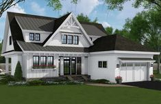 Find your dream modern-farmhouse style house plan such as Plan which is a 2652 sq ft, 4 bed, 3 bath home with 2 garage stalls from Monster House Plans. Two Story House Plans, Garage House Plans, Bungalow House Plans, Craftsman Style House Plans, Cottage House Plans, Best House Plans, Cottage Homes, Dormer Bungalow, Maine Cottage