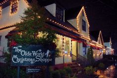 Christmas shopping at Biltmore Village in Asheville NC