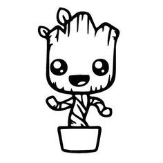 baby groot coloring pages baby groot coloring page | Coloring Board | Pinterest | Baby groot  baby groot coloring pages