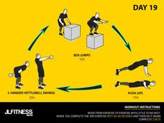 Visual Workouts For Everyone Hiit Training Workouts, Circuit Training, Training Day, Cross Training, 30 Days Of Hiit, Kettlebell Swings, Trx, 30th, Bodybuilding