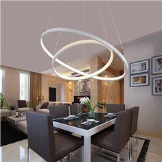 Moderne Led-pendelleuchte für Küche Esszimmer Weiß Pendelleuchte ...