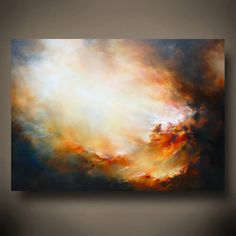 Very Large Canvas Abstract Oil Painting by SimonkennysPaintings