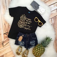 Funny kids baby If I was a Fruit Call me a Fine-Apple tee sassy girls boys hipster Shirt Bodysuit Infant or Toddler geometric pineapple kids Baby Outfits, Little Girl Outfits, Toddler Outfits, Kids Outfits, Baby Girl Fashion, Toddler Fashion, Kids Fashion, Newborn Fashion, Fashion 2016