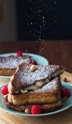 Mascarpone-Stuffed Chocolate Espresso French Toast