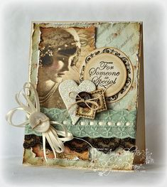 Lovely vintage lady - lovely colours - so many elements - altogether a beautiful card