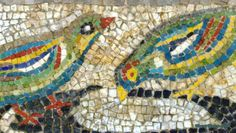 Ancient Greek mosaic, Mount Olympus museum