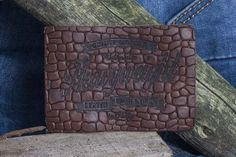 Hot printed leather label made by Panama Trimmings - Italy