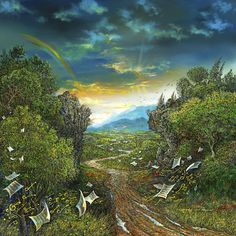 The Long and Winding Road  ROBERT LYN NELSON  Size: 24″ x 24″ Medium: Oil, acrylic on canvas Giclee prints on canvas are also available.