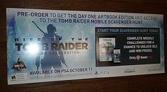 """RISE OF THE TOMB RAIDER 20 YEAR CELEBRATION 53"""" LENGTH SQUARE ENIX PROMOTIONAL P #Sony"""