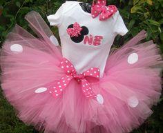 Minnie+Mouse+First+Birthday+tutu+set+by+PolkaDotCrab3+on+Etsy,+$39.00
