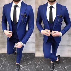 Blue Costumes, Wool Suit, Mens Suits, Suit Jacket, Slim, Blazer, Fitness, Jackets, Shopping