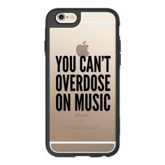 You Can-t Overdose On Music -Black - Transparent- Music Lover Musician... ($40) ❤ liked on Polyvore featuring accessories, tech accessories, iphone case, iphone hard case, iphone cover case, apple iphone cases, transparent iphone case and iphone cases