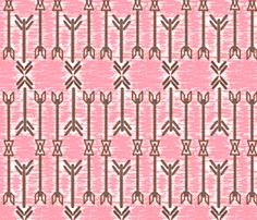 Coral Arrows fabric by eyelet_skye_designs on Spoonflower - custom fabric