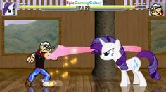 Popeye VS Rarity From The My Little Pony Friendship Is Magic Series In A MUGEN Match / Battle This video showcases Gameplay of Popeye The Sailor Man VS Rarity The Unicorn Pony From The My Little Pony Friendship Is Magic Series In A MUGEN Match / Battle / Fight