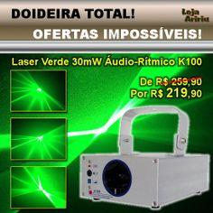 OFERTA! Laser Verde 30mW Áudio-Rítmico K100: De R$ 259,90 Por apenas R$ 219,90 em http://www.aririu.com.br/k100-laser-big-dipper-30-mw-verde-audioritmico-bivolt_69xJM