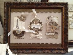 Stampin up tags in frame