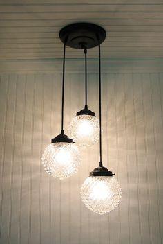 Dining room lighting.