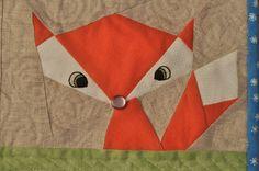 Lil' Fox  8 x 10 Quilt block Pattern. $3.00, via Etsy.