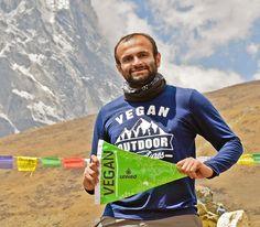 Vegan fulfills lifelong dream by scaling Mt. Everest