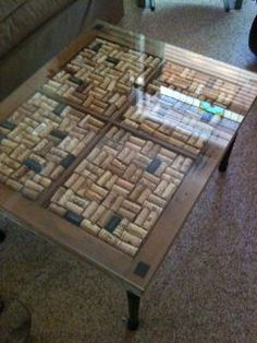 Cork table inside a window pane.Lindsay this would look so cool in your basement! Just ask your favorite future brother in law to help you! Wine Craft, Wine Cork Crafts, Wine Bottle Crafts, Wine Cork Table, Wine Cork Art, Diy Cork, Wine Cork Projects, Wine Bottle Corks, Wine Decor