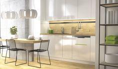 BIN-e perfectly fits in modern kitchen; #ecology, #segregation, #kitchen; #modern #home;