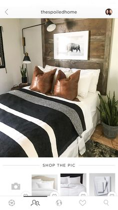 12 Beautiful Boho Bedroom Decorating On A Budget For Unique Look - Rearwad Rustic Boys Bedrooms, Big Boy Bedrooms, Boys Bedroom Decor, Home Bedroom, Modern Bedroom, Living Room Decor, Big Boy Bedroom Ideas, Bedroom Rustic, Trendy Bedroom