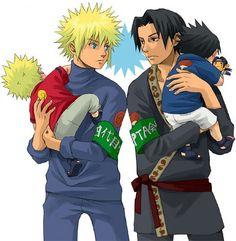 So cute. Sasuke is holding an Itachi doll. :3