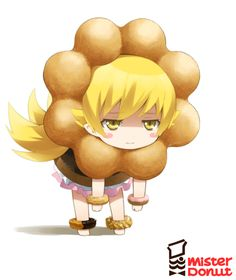 Monogatari, Oshino Shinobu, Sweets (Personification), Food (Personification), Donut (Personification)