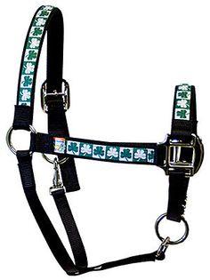 Red Haute Horse - Shamrocks Equine Elite Halter, $27.95 (http://www.redhautehorse.com/shamrocks-equine-elite-halter/)