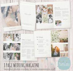 Wedding Photography Magazine  8 Page Studio by PaperLarkDesigns, $24.95 #weddingphotgraphymagazine, #weddingphotography #weddingphotographytemplate #weddingphotography #photographytemplates #photographytemplate #photographerstemplate