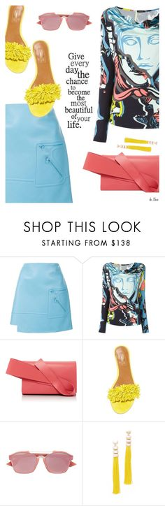 """VERSACE, Skirt & Top"" by deneve ❤ liked on Polyvore featuring Versace, Delpozo, Aquazzura, Christian Dior, Rosantica, versace and summerstyle"