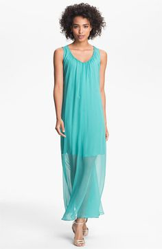 Suzi Chin for Maggy Boutique Sheer Overlay Maxi Dress available at Nordstrom